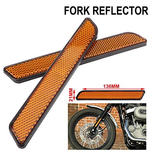 AnXin - Reflector Lateral de Motocicleta para Parte Delantera de 2 Piezas...