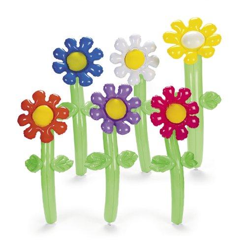 �r Schlagerparty 4 Stück Palandi® (Aufblasbare Blumen)