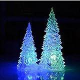 Cosanter Acryl Weihnachtsbaum LED Nachtlicht Lampe Farbwechsel Dekoration Weihnachtsdekoration Weihnachtsgeschenk