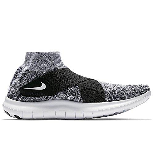 Nike Herren Free Rn Motion FK 2017 Traillaufschuhe, Mehrfarbig (BlackWhitePure PlatinumWolf Grey 001), 45 EU
