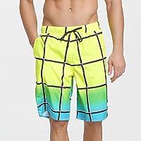 Pantalones de playa pantalones cortos de los hombres de ocio de verano deportes cinco puntos pantalones grandes marea de la marea del verano siete pares sueltos hombres de secado rápido ( Size : L )