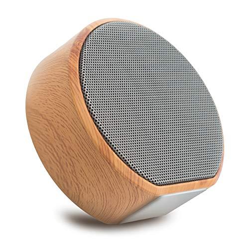 Bluetooth-Lautsprecher, Tragbarer drahtloser Bluetooth-Lautsprecher für Computerautos und mehr Mini-Outdoor-Mobiltelefone Tragbare drahtlose Bluetooth-Lautsprecher Verbesserter Bass, HD-Sound (Holzma (Ipad Travel Lautsprecher)