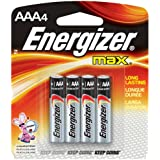 EVEE92BP4 - Energizer E92BP-4 AAA Size Alkaline General Purpose Battery