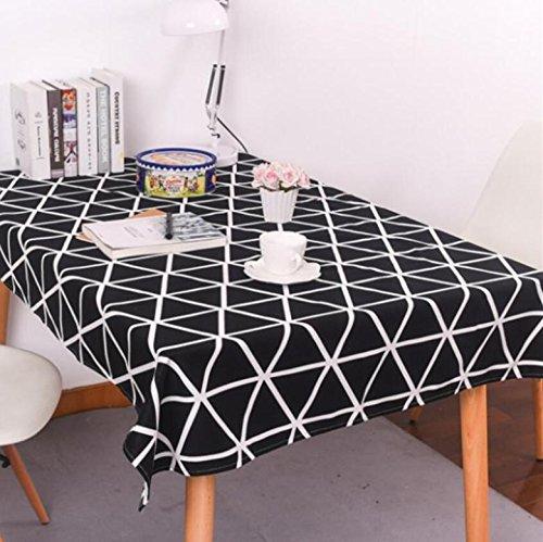 tischdecke-gitter-baumwolltuch-stoff-baumwoll-leinen-schwarz-weiss-dreieck-rechteckiges-home-picknic