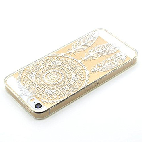 [iPhone SE/5S/5] Coque Housse de Téléphone,Etsue Mode Fashion Coque Silicone étui à Téléphone pour iPhone SE/5S/5,iPhone SE/5S/5 Doux Souple Coque en Thin Ultra-Mince TPU ,Transparent Protection des C Cloche à vent