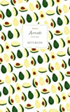 Avocado Notebook - Ruled Pages - Premium: (White Edition) Fun notebook / jotter with 96 ruled / lined pages - A5 / 5x8 inches / 12.7x20.3cm / Junior Legal Pad