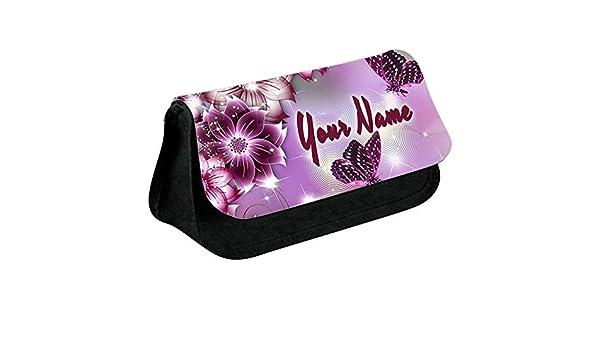 Personalizzato name butterfly design matita caso sacchetto di trucco