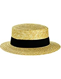 04aa23be0b9 STRAW BOATER HAT WITH BLACK BAND SAILOR SKIMMER ST TRINIAN by HAWKINS