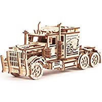 Wood Trick Big Rig Toy Truck, Realistic Semi Truck Model - Super Truck Toy - 3D Wooden Puzzle, Assembly Toys, ECO Wooden Toys, Best DIY Toy - STEM Toys for Boys and Girls