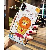 Preisvergleich für OVVO Einzigartiges Desigh iPhone X Tier Lion Relief Telefon Fall Anti-Herbst Soft Phone Shell für Liebhaber (weiß)