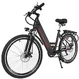 Fastdirect Vélo de Montagne VTT Électrique 26'' Pneus 6 Vitesse Bike Unisexe, 36V 10AH Intégration de Batterie Lithium-ion +250W Brushless Moteur+ Terrasse du Vélo (Noir)