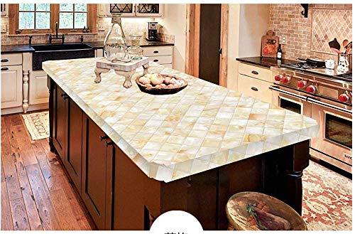 Selbstklebende Tapete Tapete aus dickem Marmor Schrank Arbeitsplatte Kochfeld Tischschwelle Farbe Möbel Renovierung Aufkleber wasserdicht rhombisch 61 cm breit * 5 Meter lang