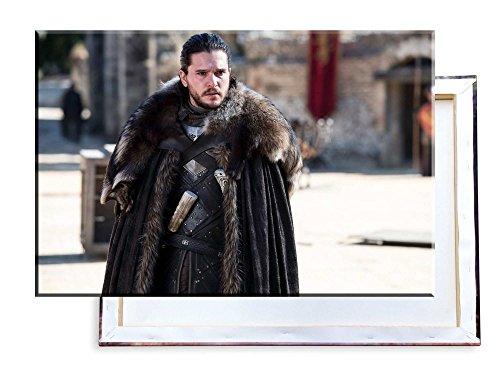 Unified Distribution Game of Thrones - Jon Snow - Kit Harington - 60x40 cm - Bilder & Kunstdrucke fertig auf Leinwand aufgespannt und in erstklassiger Druckqualität -
