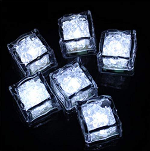 RenshenX Farbwechsel LED Ice,LED Bunte Eislichter, wassersensibles Wasser, helle Farblichter (12 Stück), weiß,Trinken Wein, Champagner Turm,Hochzeitsfeier -