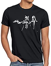 style3 Vader Fiction Homme T-Shirt star darth pulp étoiles wars guerre des boba fett dvd blu-ray tarantino