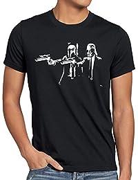 style3 Vader Fiction Homme T-Shirt star darth pulp étoiles wars guerre des boba fett dvd blu-ray tarantino