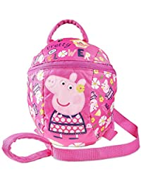 Peppa Pig Backpack With Reins Bags & Accessories Synthetic Material Kids Bags Pink/Assorted