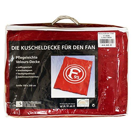 Fortuna Düsseldorf Veloursdecke Schlicht, Maße: ca. 150x200cm Material: 60% Baumwolle 40% Polyacryl