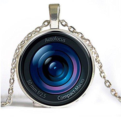 Accesorios steampunk Colgante de lente de cristal para cámara de fotos