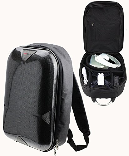 Navitech Rugged Grey Backpack / Rucksack / Case / Travel Case Compatible With The TEC.BEAN X902 BlackWidow Mini RC Quadcopter Drone