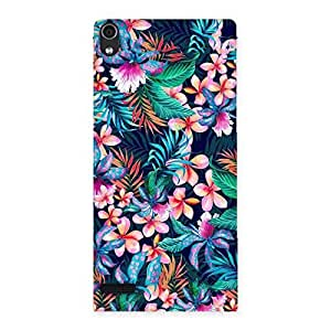 Neo World Floral Pick Back Case Cover for Huawei Ascend P6