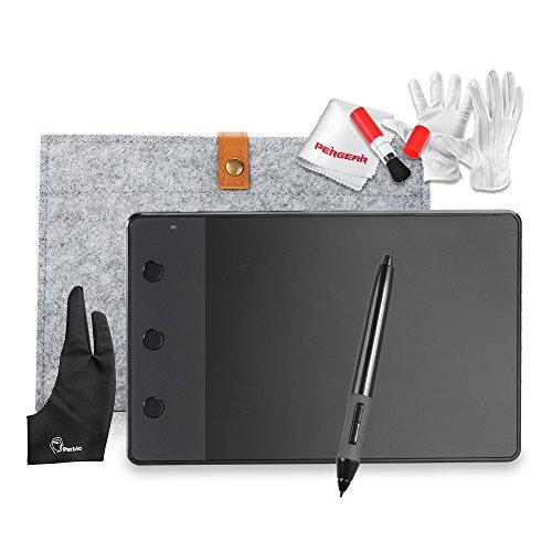 """Huion H420 4 """"x 2.23"""" USB Grafik Zeichnung Tablet-Brett mit Digitale Stift 10 """"Wolle-Zwischenlage-Beutel Zwei Finger Anti-Fouling-Handschuh und Reinigungs kits"""