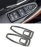 Emblem Trading Fensterheber Blende Verkleidung Rahmen Carbon Flex Autozubehör Tuning