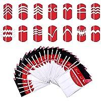 Hosaire 24 Piezas Nail Sticker Pegatinas de Uñas Hermoso Patrón de Uñas Pegatinas de Uñas Herramientas Artísticas DIY Multi Patrón