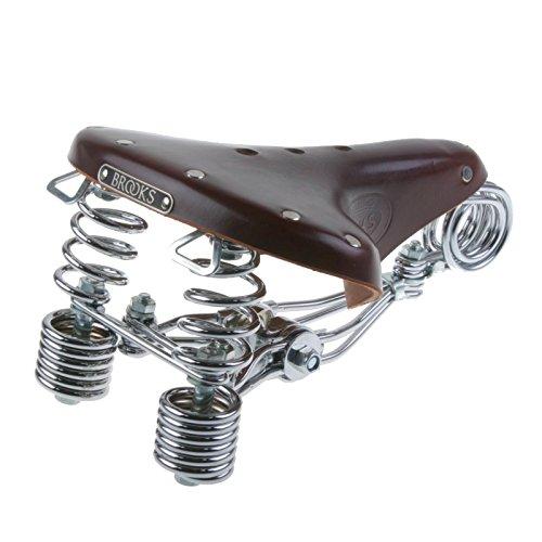 Brooks B135 Heavy Duty Leder Fahrrad Sattel Kernleder Federn unisex Fahrradsattel, B135, Farbe antikbraun (Damen Fahrrad Trek)
