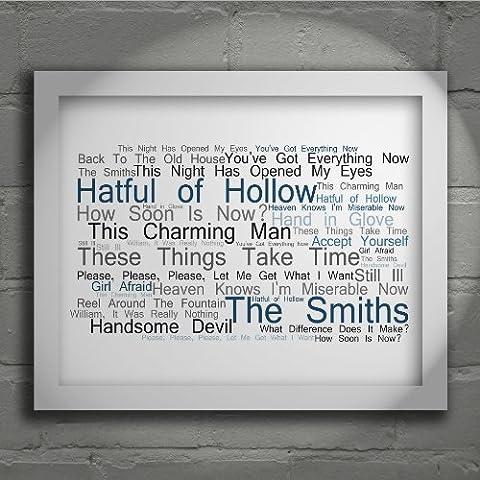 The Smiths - Hatful of Hollow - Firmada y numerada edición limitada pared arte tipografía Print - Song Lyrics Mini
