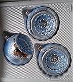 Baumschmuck eisblau 8cm Reflexkugel 3 Stück per Box