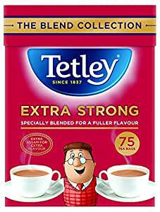 Tetley Extra Strong 80 Btl. 250g - schwarzer Tee mit extra vollem Geschmack
