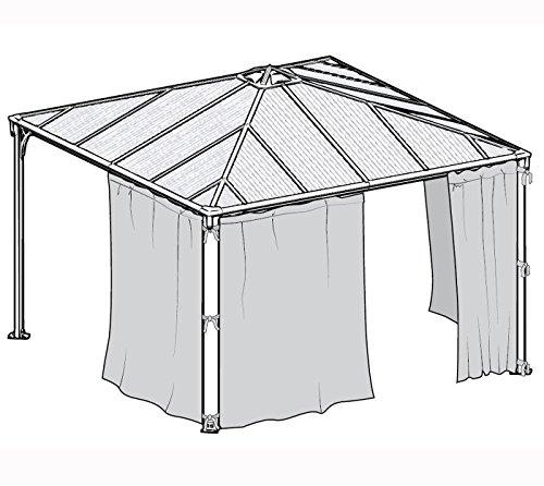 palram aluminium gazebo pavillon palermo vorh nge. Black Bedroom Furniture Sets. Home Design Ideas