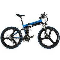 LANKELEISI La Bicicleta de montaña eléctrica Plegable de Alta Calidad de XT750 240W 26