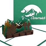 """Karte """"Österreich Berglandschaft - Alpen & Großglockner"""" - 3D Pop Up Karte als Grußkarte, Souvenir & Reisegutschein Wandern & Klettern"""
