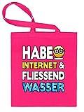 HABE INTERNET UND FLIESSEND WASSER 4877 Stoffbeutel (Pink)