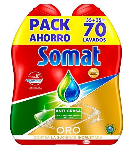 Somat Oro Gel Lavavajillas Antigrasa - 70