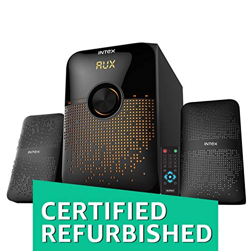 (Renewed) Intex IT-213 SUFB 2.1 Channel Computer Multimedia Speakers (Black)