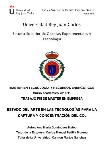 Estado del Arte en las Tecnologías para la Captura y Concentración de CO2 (Spanish Edition)