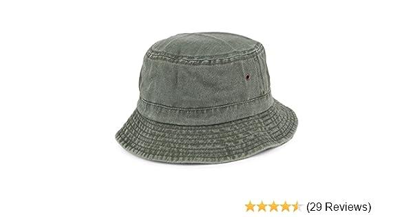 fa9d93b89e8d12 Village Hats Packable Cotton Bucket Hat - Olive: Amazon.co.uk: Clothing