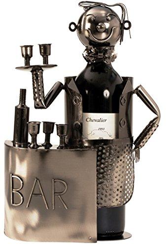 Barkeeper Flaschenhalter aus Metall Flaschenständer Weinhalter
