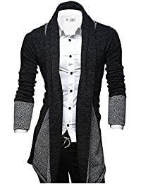 Tom's Ware Cardigan-Marled Ouvrez-Front col chale-Hommes