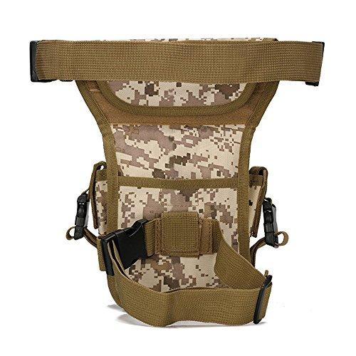Ajusen Taktische Gürteltasche Sport Hüfttasche Military Hüfttasche Beintasche für Reisen Radfahren Bergsteigen Praktische Taktische Hüfttaschen 1
