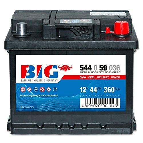 Preisvergleich Produktbild BIG Silber Ca/Ca - 12 V / 44 Ah - 360 A/EN - 54459 Autobatterie