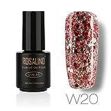 AMUSTER Vernis à ongles Faux ongles et capsules Poudres et liquides acryliques pour ongles Autocollants et pochoirs pour nail art (J)