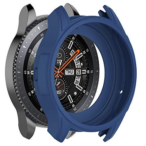 Samsung und Samsung Universal Silikonhülle Soft Blue TPU Silikon Schutzhülle Full Cover für Getriebe S3 Frontier/Galaxy Watch46 (Blau) - Getrieben Ausbildung
