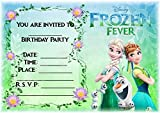 Disney Frozen Geburtstag Party lädt – Frozen Fever Landschaft Design – Party Supplies/Zubehör (12 Stück A5 Einladungen) WITH Envelopes