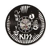 KISS Rock Band LED Record Uhr Schallplatte Material Klassische K¨¹nstlerische CD Wanduhr Geschenk f¨¹r KISS Fans Kreative Wanduhr