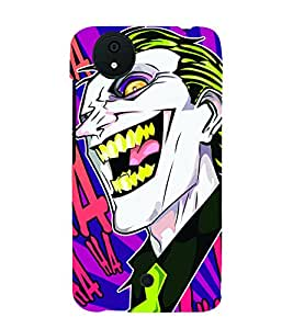 Smiley Fun Joker 3D Hard Polycarbonate Designer Back Case Cover for Micromax Android A1 :: Micromax Canvas A1 AQ4502