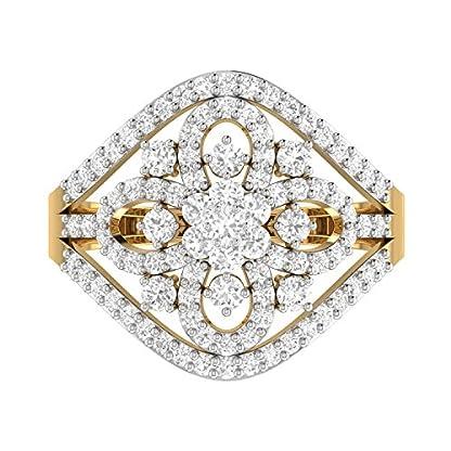 PC Jeweller The Vaahila 18KT Yellow Gold & Diamond Rings
